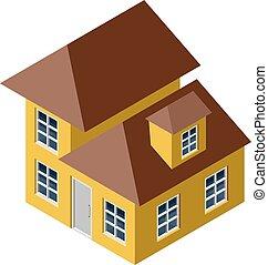 casa, isometric, 3d