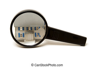 casa, ispezione, concetto