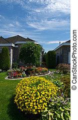 casa, jardín