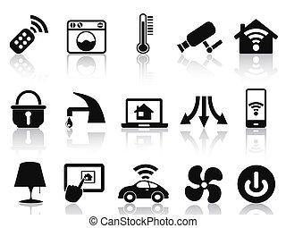 casa, jogo, esperto, ícones