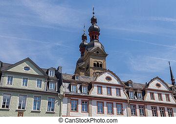 casa, koblenz, rhineland-palatinate, alemanha, fachadas
