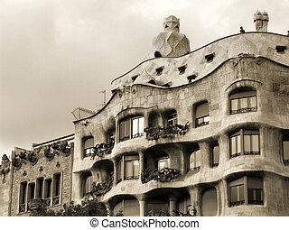 La Pedrera - famous Antonio Gaudi's building in Barcelona, Spain