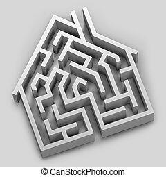 casa, labirinto