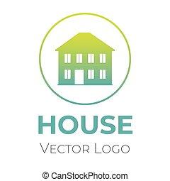 casa, lar, companhia, vetorial, template., interior, vender, logotipo, desenho, desenho, símbolo., construção