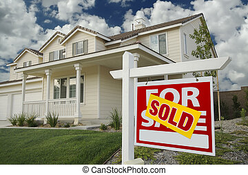 casa lar, vendido, sinal venda