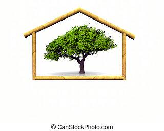 casa, legno