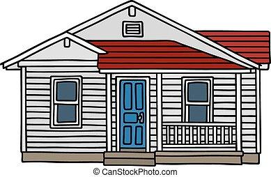 casa legno, bianco