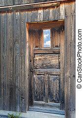 casa legno, finestra, porta, rustico