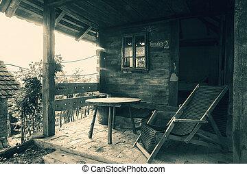 casa legno, fronte
