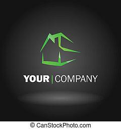 casa, logotipo, disegno