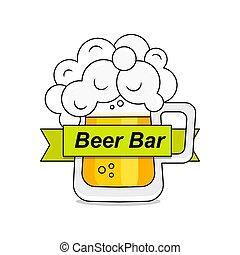 casa, logotipo, plantilla, línea, original, vendimia, retro, insignia, arte, cerveza, diseño