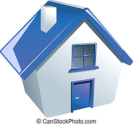 casa, lustroso, ícone