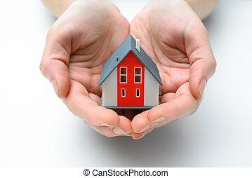 casa, mãos humanas
