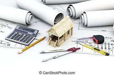 casa madeira, projeto, engenharia, arquiteta, ferramentas