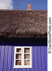 casa madeira, retro, fragmento
