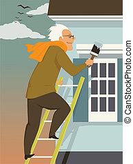 casa, manutenzione, cadere