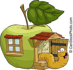 casa, manzana