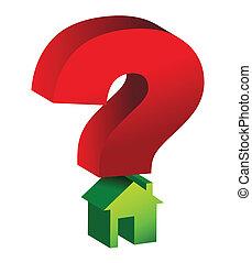 casa, marca pergunta