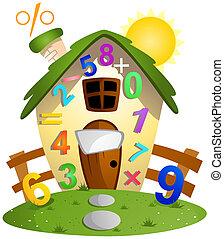casa, matemáticas