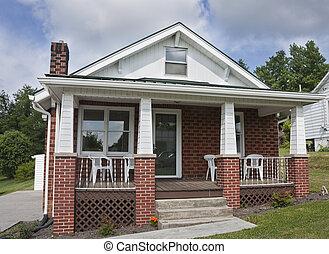 casa mattone, con, veranda