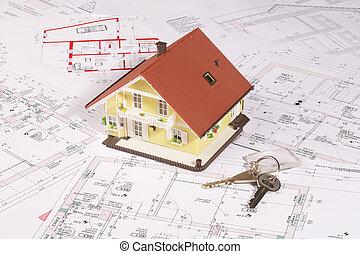 casa, mi, llave