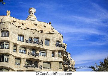 Casa Mila by Antonio Gaudi, Barcelona, Spain - Casa Mila or ...