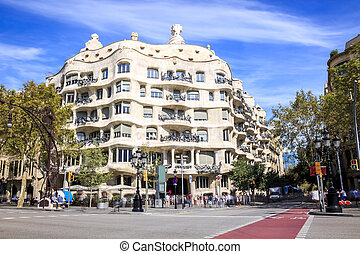 Casa Mila by Antonio Gaudi, Barcelona, Spain - Casa Mila or...