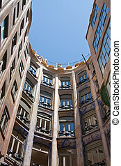 Casa Mila or La Pedrera, architect Antonio Gaudi