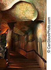Casa Mila or La Pedrera. Interior - Inside Casa Mila or La...