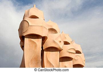 Casa Mila rooftop chimney