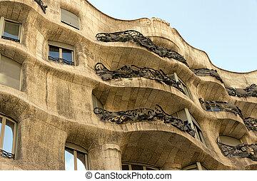 Casa Mila - Antonio Gaudi's famous Casa Mila. BARCELONA