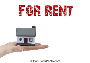 casa, modello, affitto, text:for, miniatura