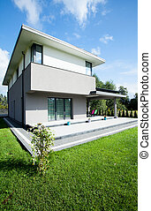 casa, modernos, vista