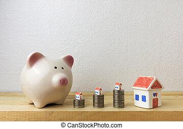 casa, moedas, cofre