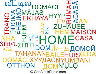 Wordcloud concetto multilanguage amputazione fondo for Aprire piani casa concetto