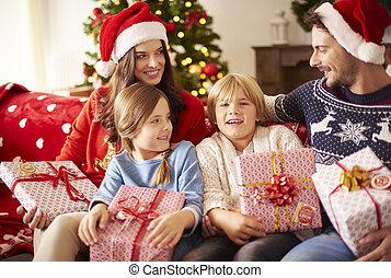casa, natale, feste famiglia