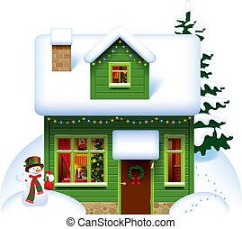 casa, navidad
