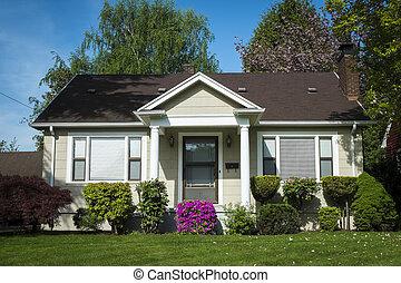 casa, norteamericano, artesano