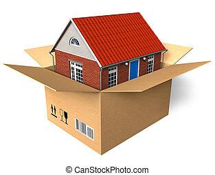 casa nuova, scatola