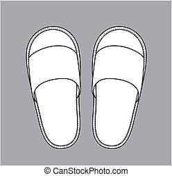 casa, pantofole