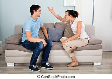 casa, par, tendo, argumento