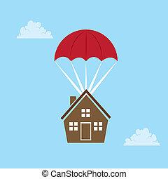 casa, parachuting