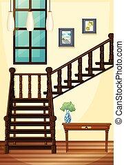 casa, parte, indoor, vista