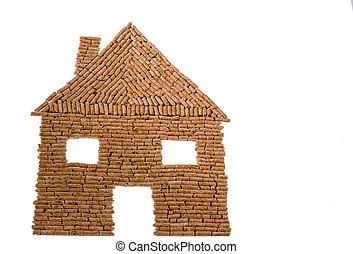 casa, pelotillas, calefacción