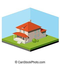 casa pequena, suburbano