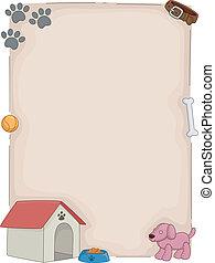 casa, perro, plano de fondo