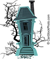 casa perseguitata, strega halloween