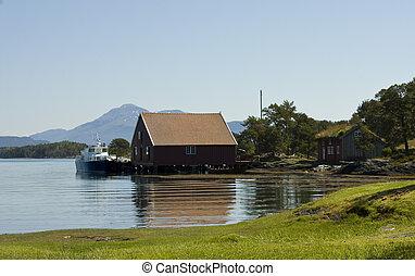casa, pez, molde, museo, barcos, viejo, hjertoya, pesquerías...