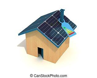 casa, photovoltaic
