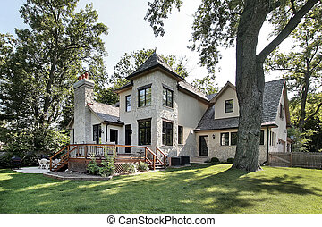casa, pietra, lusso